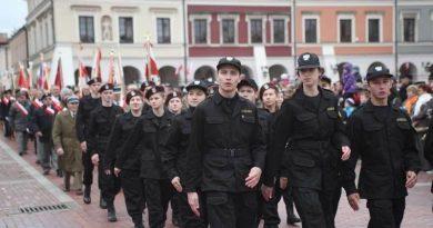 11 listopad 2013 – Obchody 95. rocznicy odzyskania niepodległości w Zamościu