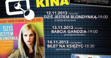"""Przegląd filmowy – ALCHEMIA KINA 12-14 listopada 2013.Centrum Kultury Filmowej """"Stylowy"""" w Zamościu"""