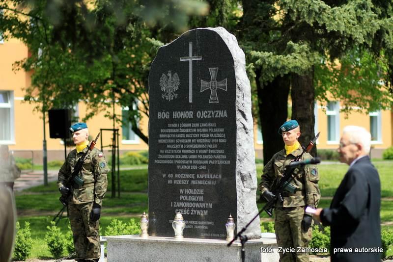 70. rocznica zakończenia II wojny światowej – obchody w Zamościu