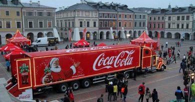 Świąteczna ciężarówka Coca-Cola zawitała do Zamościa!