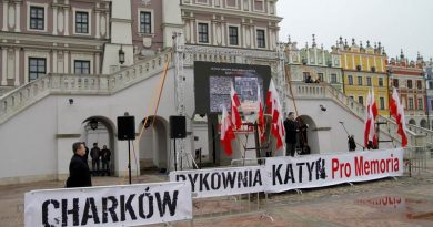 Zamość uczcił 76 rocznicę o polskich oficerach zamordowanych w Katyniu