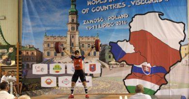 """Turniej Nadziei Olimpijskich w Podnoszeniu Ciężarów Krajów """"Wyszehradzkiej Czwórki""""."""