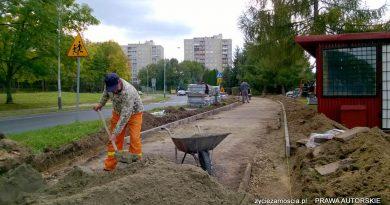 Nowy ciąg pieszo-rowerowy na ul. Zamoyskiego