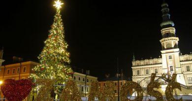 Nowe iluminacje świąteczne w Zamościu