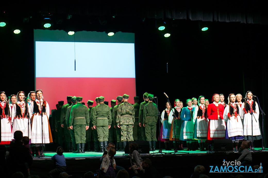 """Zamość dla Niepodległej – koncert """"W ŻOŁNIERSKIEJ PIEŚNI"""""""