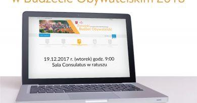 Spotkanie informacyjne ws. internetowego głosowania w ramach Budżetu Obywatelskiego