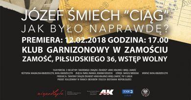 """Zaproszenie na premierę filmu pt. """"Józef Śmiech """"Ciąg"""" – Jak było naprawdę?"""""""