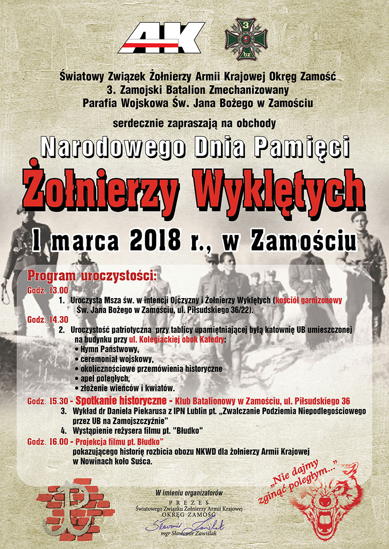 Narodowy Dzień Pamięci Żołnierzy Wyklętych – ZAPROSZENIE