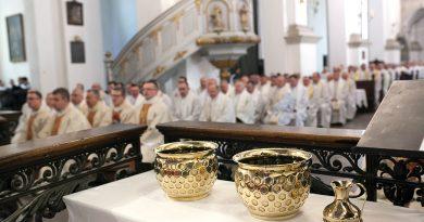 Zamość – Wielki Czwartek, Msza Krzyżma w Katedrze Zamojskiej