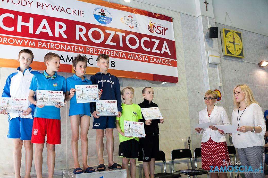 """Zawody Pływackie """"XIII Puchar Roztocza 2018 r"""" w Zamościu"""
