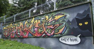 Wielkie malowanie na murze
