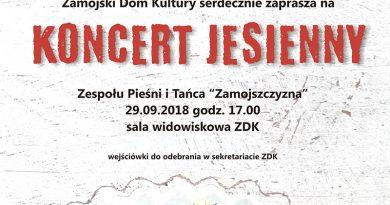 """Jesienny Koncert Zespołu Pieśni i Tańca """"Zamojszczyzna"""""""