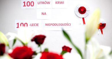 """Trwa akcja """"100 litrów krwi na 100-lecie odzyskania Niepodległości"""""""
