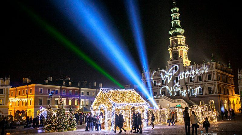 Iluminacje świąteczne życie Zamościa