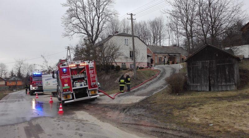 Pożar w miejscowości Wysokie