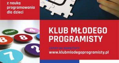 Dołącz do Klubu Młodego Programisty – trwają zapisy na zajęcia