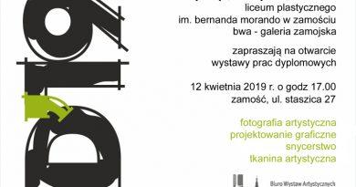 Dyplom 2019 w zamojskiej BWA