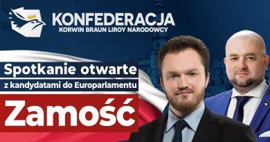 Zaproszenie na spotkanie z kandydatami Konfederacji Korwin Braun Liroy Narodowcy