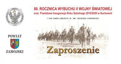 Rocznica II wojny światowej i inauguracja roku szkolnego w powiecie zamojskim