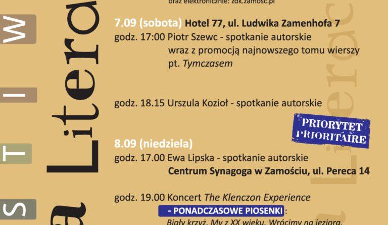 Festiwal Ulica Literacka cz. II już od piątku