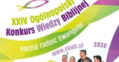 XXIV Ogólnopolski Konkurs Wiedzy Biblijnej – znamy szczegóły