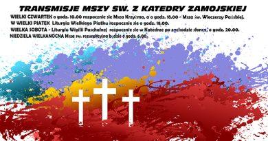 Transmisje mszy św. Triduum Paschalnego na naszym fanpage'u