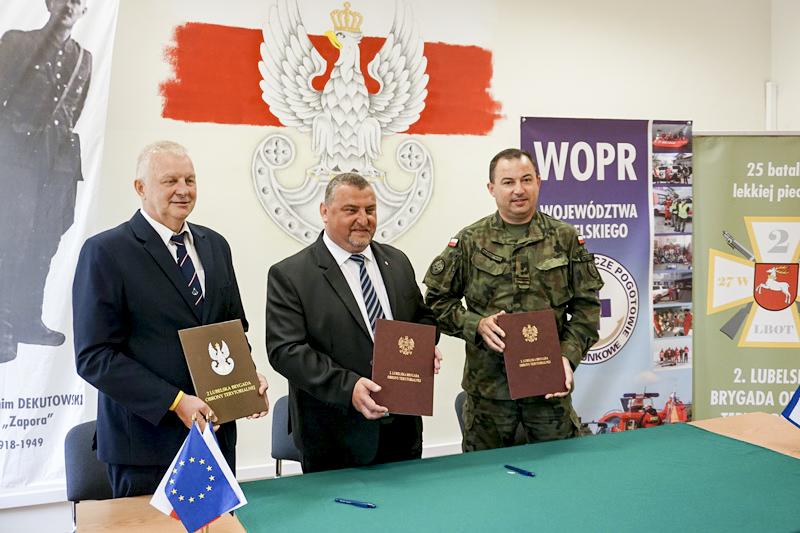 Lubelscy Terytorialsi podpisali porozumienie z WOPR
