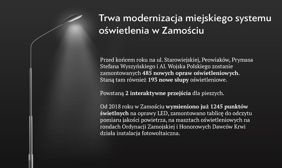 3,5 mln na LEDy w Zamościu