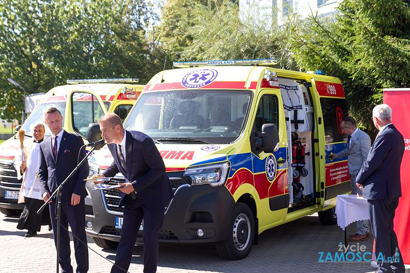 Nowe karetki dla stacji pogotowia ratunkowego w Zamościu i Biłgoraju
