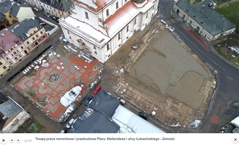 Prace na Placu Stefanidesa, ul. Solnej oraz Łukasińskiego