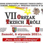 VII edycja Orszaku Trzech Króli w Zamościu - trasa przejazdu