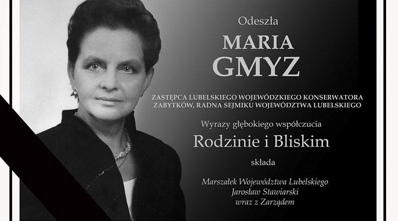 Dziś (10.02) zmarła znana dla Zamościan i całej Lubelszczyzny postać – Maria Gmyz