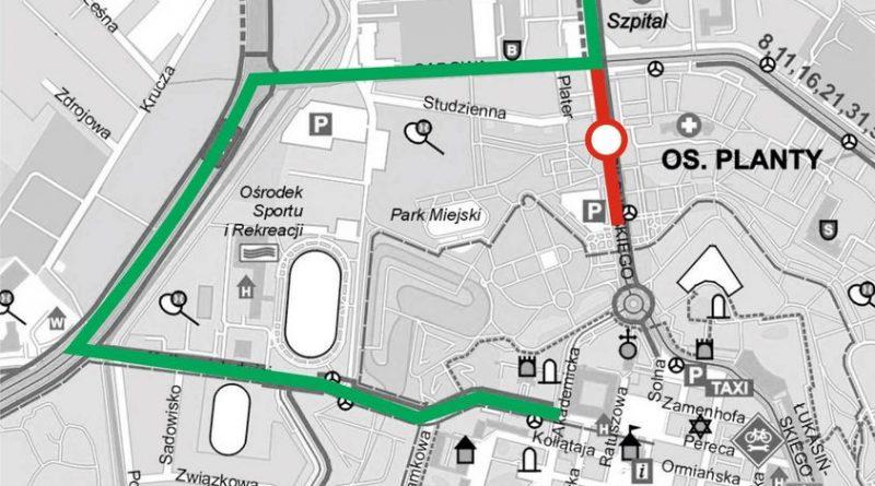 Od wtorku 4 maja br. ul. Piłsudskiego częściowo będzie zamknięta