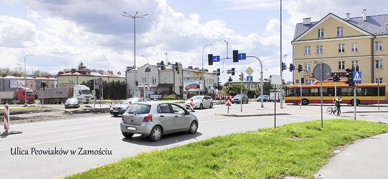 Zamość z remontami dróg