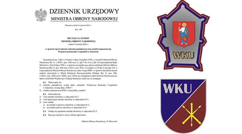 Nowe odznaki w Wojskowej Komendzie Uzupełnień w Zamościu